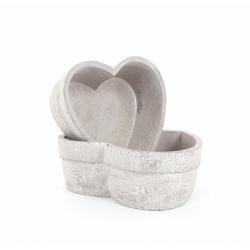 Cœur Ciment 18,5 x 19,5 x h7 cm