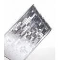Jardinière Ovale design Facette Blanc/Argenté 15 x 8 x h 7,5 cm