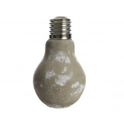 LIGHT - Vase Ampoule Gris Céramique en Béton d 9.5 x 15 cm