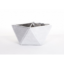Coupe Céramique Argent 17 x 17 x h 10 cm