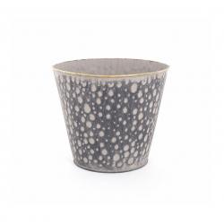 JIMO - Cache Pot Zinc Brun Or D17 x H15 cm