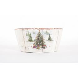 Coupe en Céramique Sapin de Noel d 16 x h 7.5 cm