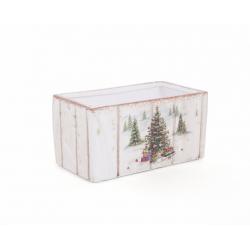 Jardinière en Céramique Sapin de Noel d 14 x 8 h 8.5 cm