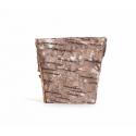 Vannerie Carrée Ecorse Naturel 8x 8x h 8 cm