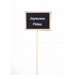 """Pique """"Joyeuses Fêtes"""" Naturel par 24"""