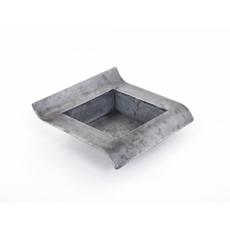 Coupe Carrée Zinc Noir 15.5 x 15.5 x h 8 cm