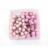 Boules Verre avec fil Rose poudré D20 mm par 144