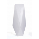 Vase Polyrésine Blanc d 37 x h 100 cm