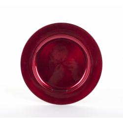Assiette Plastique Rouge d 28 cm
