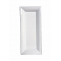 Assiette Rectangle Plastique Blanc 28 x 12 cm