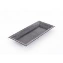Assiette Rectangle Plastique Gris 28 x 12 cm