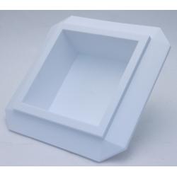 Bac Carré PVC Blanc 190x190x50mm par 3