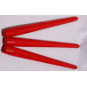 Bougie Flambeau 25cm Rouge  x12
