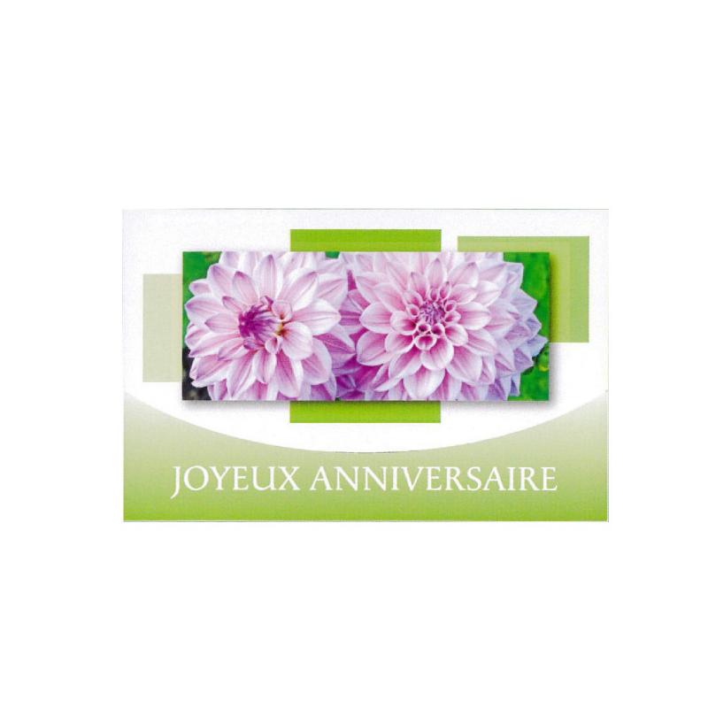 JOYEUX ANNIVERSAIRE - Carte Tendresse Doubles