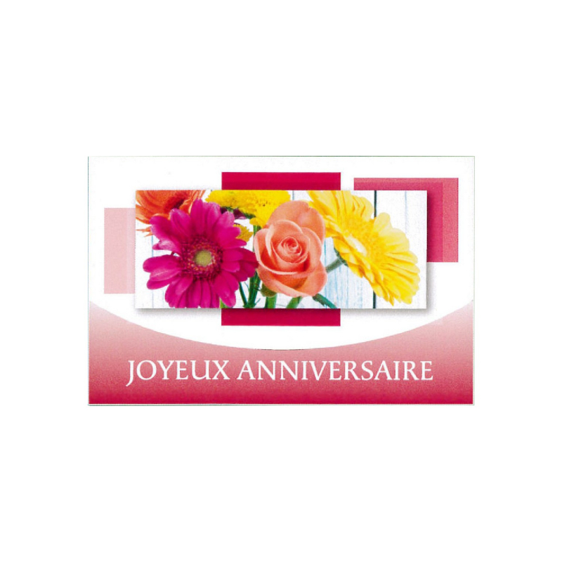 JOYAUX ANNIVERSAIRE - Carte Tendresse Doubles
