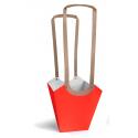 Sac Aqua D.13cm Par 10 Rouge Vif