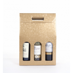 Sac Carton 3 bouteilles Rond Or 27 x 90 x 38.5 par 10