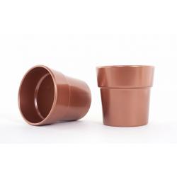 Cache-pot d13.5 h12.5 cm Cuivre par 6