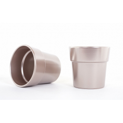 Cache-pot d13.5 h12.5 cm Rose Or par 6