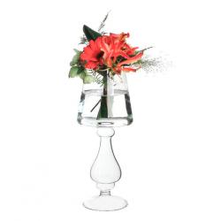 Lampe Vase Verre h32 d9 cm