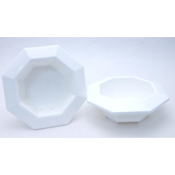 Bac Octogonal PVC Blanc 260x50 mm par 3