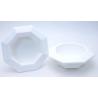 Bac Octogonale PVC Blanc 260x50mm par 3