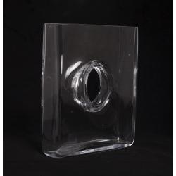 LISTA - Vase Verre Rectangulaire avec Trou L20 x P6 x H24 cm
