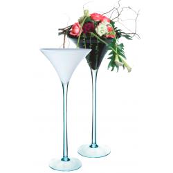 MARTINI 70 - Vase Martini Verre Blanc D30 x H70 cm