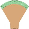 Cône Sophie 54X44X14CM vert par 25