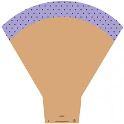 Cône Sophie 54X44X14CM violet par 25