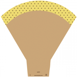 Cône Sophie 54X44X14CM jaune par 25