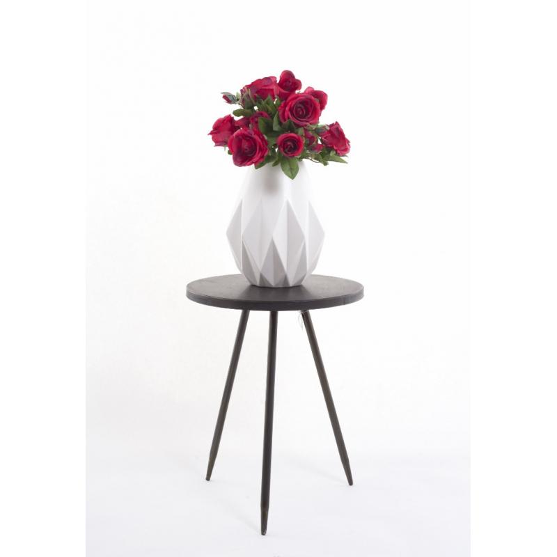 """Vase Blanc""""Diamant h29 D24.5cm"""