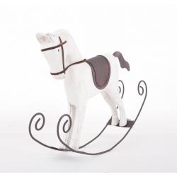 Cheval à bascule en Bois Blanc 29 x 37 cm