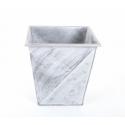 Cache Pot Argent Brossé 25x25x h 25.5 cm