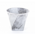 Cache Pot Argent brossé d 28 x hn 24.5 cm