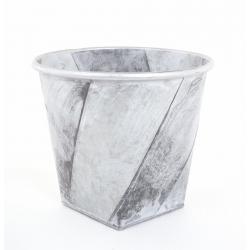 ESER - Cache Pot Argent brossé D28 x h24.5 cm