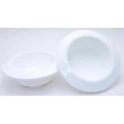 Bac Rond PVC Blanc 160x50mm par 9