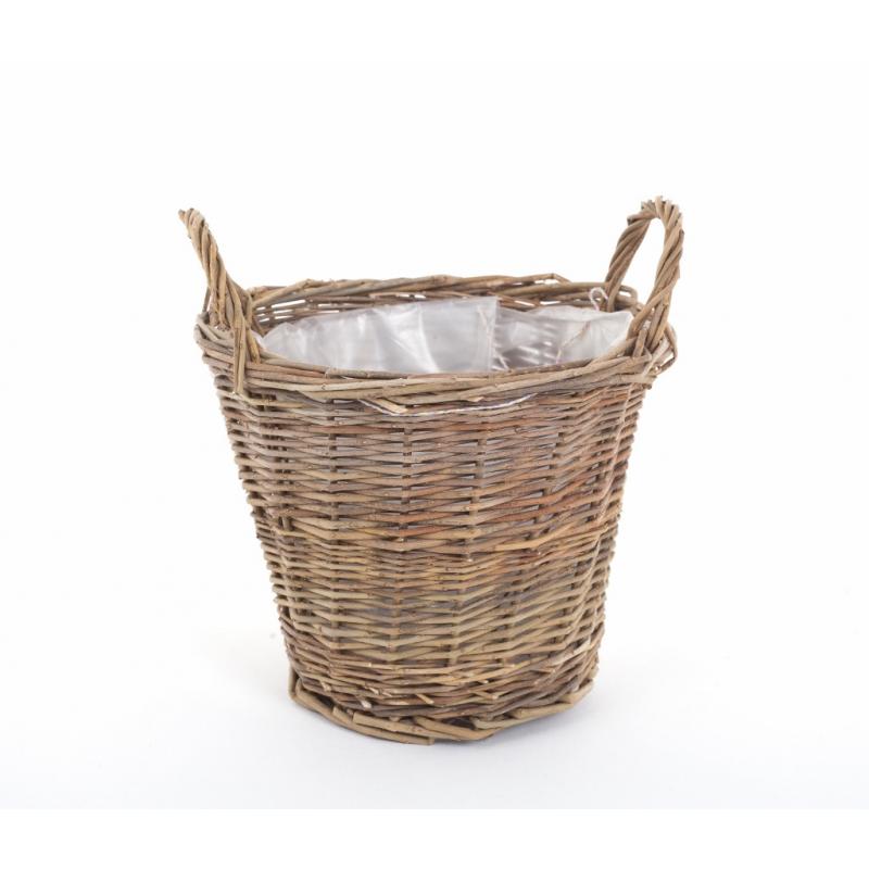 Cache-pot Osier Brut Anses d19 h16 cm