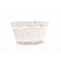 Vannerie Ronde Osier Blanchi d 17 x 9 cm