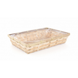Coupe Rectangle Bambou Naturel 33.5x23 cm