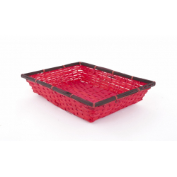 DRIS - Corbeille Rectangle Rouge L36 x P28 x H7 cm
