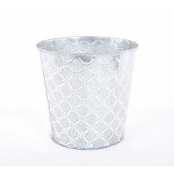 Cache Pot Zinc Décor D16H15cm