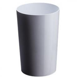 Vase Pro PVC h35xd18cm Blanc