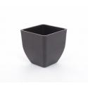 Cache-pot Bambou d8 h9 cm Noir