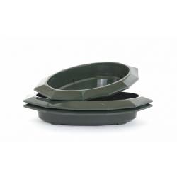 Bac Ovale PVC Vert 340x220x50mm par 3