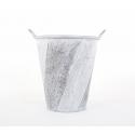 Cache Pot Argent Brossé d 31 x h 39 cm