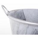 Cache Pot Argent Brossé d 36 x h 42 cm