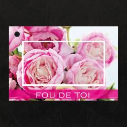 AMOUR - Carte Jeso Brillant Gold X par 10 Fou de Toi