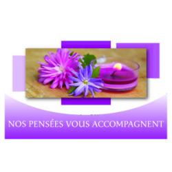 NOS PENSEES VOUS ACCOMPAGNENT - Carte Voeux Tendresse par 10