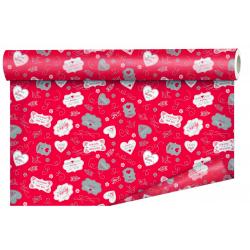HANS - papier Bulle Rouge 80cm x 40m